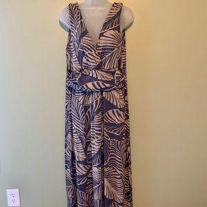Boden Leaf Print Maxi Dress, Size 16L